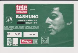 Concert BASHUNG 18 Mars Ancienne Belgique. - Concert Tickets