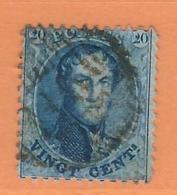 COB 15 Oblitération à Barres  Used (o)  (lot 296) - 1863-1864 Medaillen (13/16)