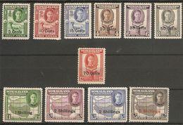 SOMALILAND 1951 SET SG 125/135 (LIGHTLY) MOUNTED MINT Cat £55 - Somaliland (Protectorate ...-1959)