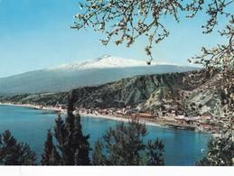 Postcard Taormina Panorama Con La Riviera Giardini Sicilia My Ref  B22904 - Other Cities