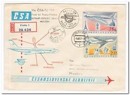 Tsjechoslowakije 1957, Flight Letter From Prague To Moscow - Czechoslovakia