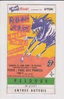 Concert ROLLING STONES 23 Juin 1990 Paris Parc Des Princes. - Tickets De Concerts