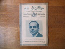 LE GUIDE DU CONCERT 27 MAI ET 3 JUIN 1927 VICTOR PRAHL,MUSIQUE POPULAIRE CORSE,SALON DE LA MUSIQUE  ,CONCERTS,PUB - Music & Instruments