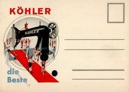 Nähmaschine Köhler  Werbe AK I-II (fleckig) - Werbepostkarten