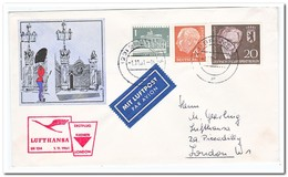 First Flight 1961 Bremen-London With Berlin Stamps - [7] West-Duitsland