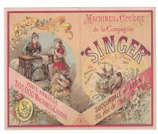COMPAGNIA SINGER MACCHINE DA CUCIRE  CARTONCINO PUBBLICITARIO - Pubblicitari