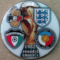Pin FIFA World Cup 1982 Group 4 Round 1 England France Kuwait Czechoslovakia - Fútbol