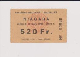 Concert NIAGARA 10 Mars 1989, Ancienne Belgique. - Tickets De Concerts