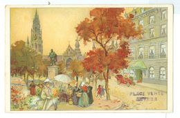 1913, Belgium, Anvers, Place Verte. Printed Pc, Used. - Belgium