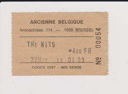 Concert THE NITS 13 Avril 1989, Ancienne Belgique. - Tickets De Concerts