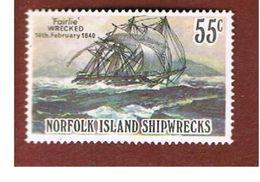 NORFOLK - SG 291  - 1982 SHIPWRECKS: FAIRLIE 1840  - USED° - Isola Norfolk