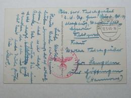 1943 ,  Carte Militaire A Strassburg - Guerre De 1939-45
