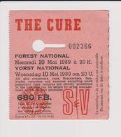 Concert THE CURE 10 Mai 1989  à  Forest  B. - Tickets De Concerts
