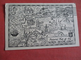 Pictorial Map Of North Devon Coast  -       Ref 3049 - Other