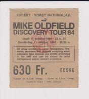 Concert MIKE OLFIELD 11 Octobre 1984  à Forest B - Tickets De Concerts