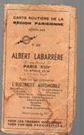 Carte Routière REGION PARISIENNE Dépliante Offerte Par ESA  (PPP16665) - Carte Stradali