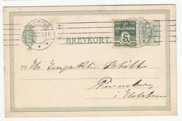 Danmark, Postal Stationery Brevkort Travelled 1912 Kolding Pmk B180830 - Postal Stationery