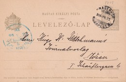 HONGRIE 1906 ENTIER POSTAL CARTE DE BUDAPEST - Postal Stationery