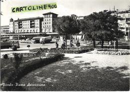 Lazio-viterbo Piazza Autocorriere Veduta Giardini Persone Camion Autocorriere Autobus Benzinaio Agip Animata Anni 50/60 - Viterbo