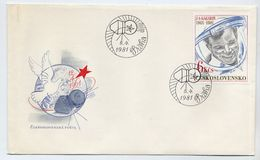 CZECHOSLOVAKIA 1981 Anniversary Of Manned Space Flight On FDC.  Michel 2611 - FDC