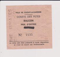 Concert THE INMATES 15 Novembre 1985 Clichy La Garenne. - Tickets De Concerts