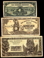 Japan 3 Note  Local Printed Indonesia War Set From 1942 VF-UNC - Japan