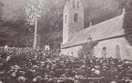 Postcard IOM Sunday Service At Kirk Braddan [ Douglas Isle Of Man ] Wigan & Pemberton Cancel 1908 My Ref  B12394 - Isle Of Man