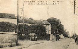 CPA - Environs De MESNIL-le-ROI (78) CARRIERES-sous-BOIS - Aspect De La Rue Maurice Berteaux En 1928 - Otros Municipios