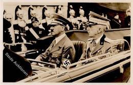 Hitler König Viktor Emanuel WK II PH It. 24 Foto AK I-II - Weltkrieg 1939-45