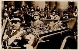 Hitler WK II  Mussolini PH It. 16 Foto AK I-II - Weltkrieg 1939-45