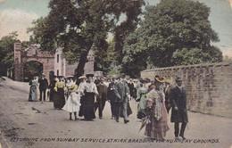 Postcard Returning From Church Service At Kirk Braddan Via Nunnery Grounds Douglas Isle Of Man PU 1911 My Ref  B12395 - Isle Of Man