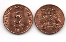 Trinidad - 5 Cents 1966 AUNC Lemberg-Zp - Trinité & Tobago