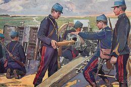 Themes Div - Ref X959- Guerre 1914-18- Illustrateurs - Illustrateur -canons - Canon 75- Carte Bon Etat  - - War 1914-18