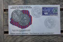 Enveloppe Commémorative Exposition Philatélique B.N.P Paris 1971 - Commemorative Postmarks