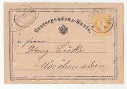 Austria, Postal Stationery Correspondenz-karte Travelled 187? Reichenberg [Liberec] Pmk B180830 - Ganzsachen