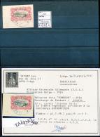 """BELGIAN CONGO  RUANDA URUNDI BOX 2  1916 ISSUE """"TOMBEUR"""" COB 10 USED - Ruanda-Urundi"""