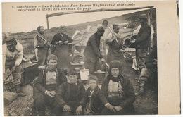 Macedoine   Les Cuisiniers Infanterie Visite Des Enfants Du Pays  Edit L; Gaillard Prette Besançon Cook - Macédoine