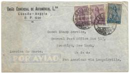 ANGOLA (Portugal)  Luanda - Airmail From Leopoldville To USA - 5.75a CERES Franking - Angola