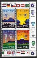 Islande 1995 Bloc De 4 Des N° 773/776 Neuf Championnat Du Monde De Handball - 1944-... República