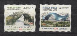 Georgia Georgien 2018 Mi. 696-697 Europe CEPT Bridges - Georgien