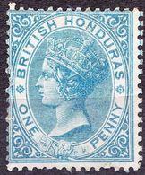BRITISH HONDURAS 1884 QV 1d Blue SG17 MH - British Honduras (...-1970)