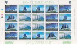 Bosnia Herzegovina - 1997 - Nuovo/new MNH - Greenpeace - Kleinbogen - Mi N. 87/90 - Bosnia Erzegovina