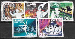 Islande 1994 N° 755/759 Neufs Créativité Artistique Et Culturelle - 1944-... Republik