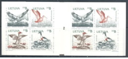 Lituania - 1992 - Nuovo/new MNH - Natura - Booklet - Type 2 - Mi N. 501/05 - Lituania