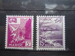 VEND BEAUX TIMBRES DU MAROC N° 331 + 332 , X !!! (a) - Morocco (1891-1956)