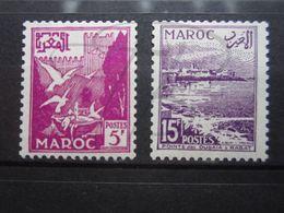 VEND BEAUX TIMBRES DU MAROC N° 331 + 332 , X !!! (b) - Morocco (1891-1956)
