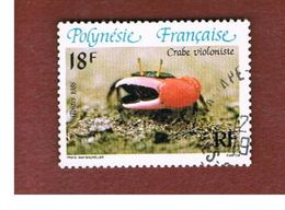 POLINESIA FRANCESE  (FRENCH POLYNESIA ) - SG 465  - 1986 CRABS: FIDDLER - USED° - Polinesia Francese