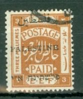 Palestine: 1920   E.E.F. 'Palestine' OVPT    SG44    3m   [Perf: 15 X 14]   Used - Palestine