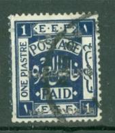 Palestine: 1920/21   E.E.F. 'Palestine' OVPT    SG35    1P   [Perf: 15 X 14]   Used - Palestine