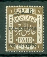 Palestine: 1921   E.E.F. 'Palestine' OVPT    SG47    1m   Used - Palestine